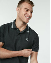 Express stretch tipped collar small lion polo