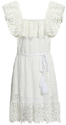 Miguelina Haven Belted Guipure Lace Dress
