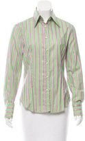 Etro Pinstripe Button-Up Top