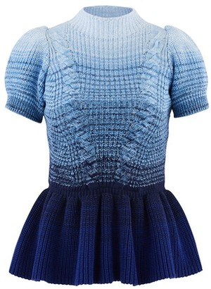 Self-Portrait Short-sleeved jumper with ruffles