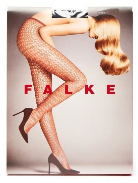 Falke Hamper Net Tights - Womens - Black