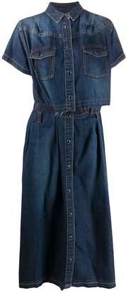 Sacai loose-fit denim dress