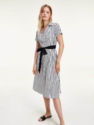 Tommy Hilfiger Stripe Belted Shirt Dress