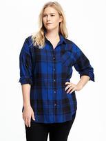 Old Navy Boyfriend Plus-Size Flannel Shirt