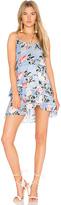 Karina Grimaldi Love Print Mini Dress in Blue. - size L (also in M,S,XS)