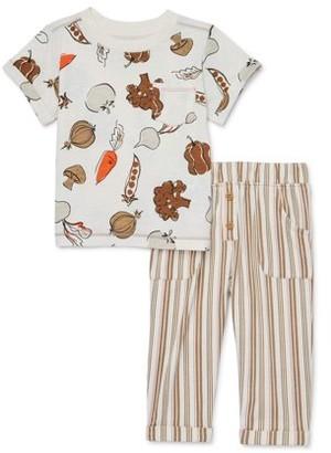 Wonder Nation Baby Boy Pocket T-Shirt & Harem Pants, 2pc Outfit Set (Baby Boys)