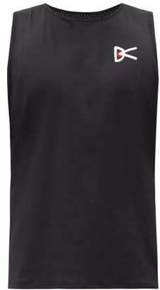 District Vision Air Wear Logo-print Perforated-jersey Tank Top - Black