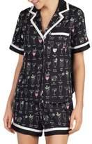 Kate Spade Cocktail Short-Sleeve Pajama Set