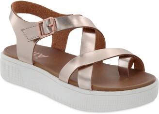 Mia Strappy Metallic Sandal