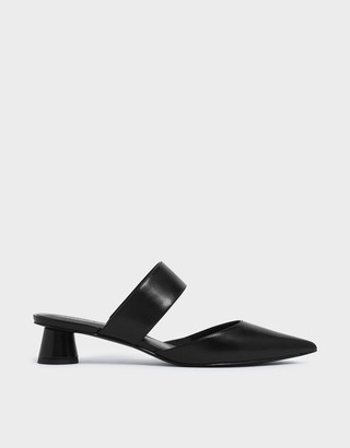 Charles & Keith Thick Strap Cylindrical Heel Mules