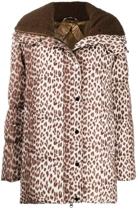 P.A.R.O.S.H. Leopard Print Oversized Padded Jacket