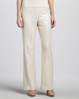 Magaschoni Sequined Mesh Pants