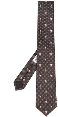 Alexander McQueen silk Skull pattern tie