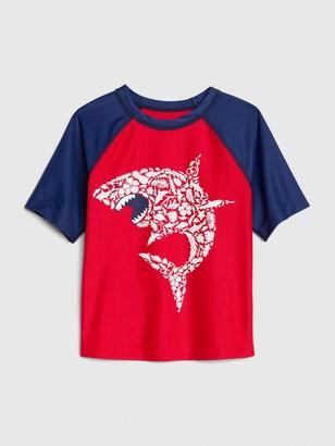 Gap Toddler Short Sleeves Shark Rash Guard