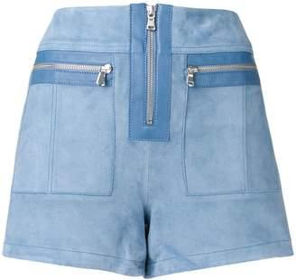 Victoria Victoria Beckham cornflower suede shorts