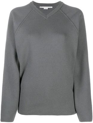 Stella McCartney oversized V-neck raglan jumper