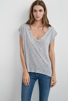 Hannah Scoop Neck Jersey Tee