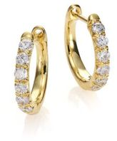 Jude Frances Jude Diamond & 18K Yellow Gold Huggie Hoop Earrings/0.5