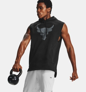 Under Armour Men's Project Rock Charged Cotton Sleeveless Hoodie