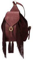 Frye Clara Leather Fringe Backpack