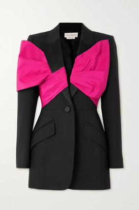 Alexander McQueen Bow-embellished Wool-blend Blazer - Black