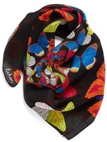Echo Butterfly Print Square Silk Scarf