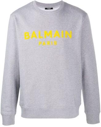 Balmain Flocked Logo Sweatshirt