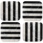 Thirstystone 4-Pc. Striped Marble Square Coaster Set