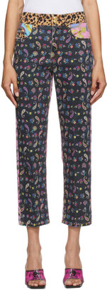 Versace Multicolor Mixed Print Jeans