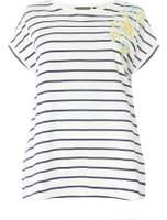 Dorothy Perkins Womens DP Curve Plus Size Multi coloured Stripe Floral Embroidered T-Shirt
