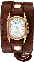 La Mer Women's LMCHATEAU1008 Analog Display Japanese Quartz Brown Watch