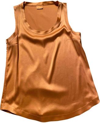 Brunello Cucinelli Orange Silk Tops