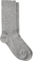 Barneys New York Women's Warm Trouser Socks-GREY