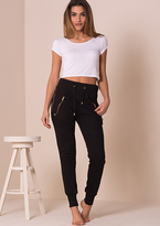 Missy Empire Martha Side Zipped Jogging Bottoms