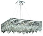 "Swarovski Bratton 12-Light Unique / Statement Rectangle / Square Chandelier Rosdorf Park Size / Crystal Trim: 32"" / Strass"