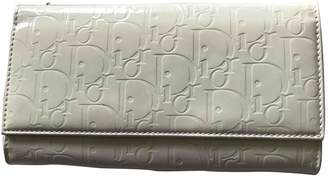 Christian Dior White Patent leather Wallets