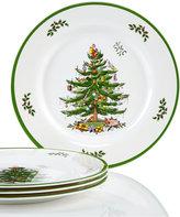 Spode Christmas Tree Set/4 Melamine Dinner Plate