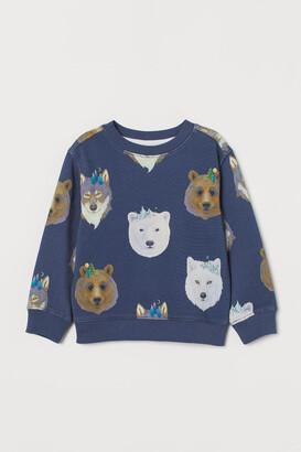 H&M Patterned Sweatshirt - Blue