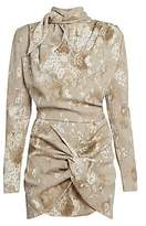 Magda Butrym Women's Floral Silk Tieneck Mini Dress