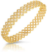 Roberto Coin Barocco Three-Row Diamond Bracelet in 18K Yellow Gold