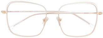 S'nob Marchesa square frame glasses