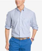 Izod Men's Advantage Gingham Poplin Shirt