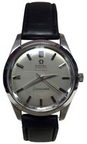 Tiffany & Co. Omega Seamaster Stainless Steel / Leather with Champagne Dial 35mm Mens Watch