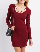 Charlotte Russe Ribbed Strappy Bodycon Dress