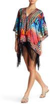 La Moda Rhinestone Embellished Cover Up Caftan