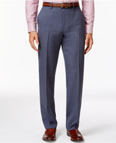 Alfani Big and Tall Steel-Blue Slim Flat-Front Pants, Only at Macy's