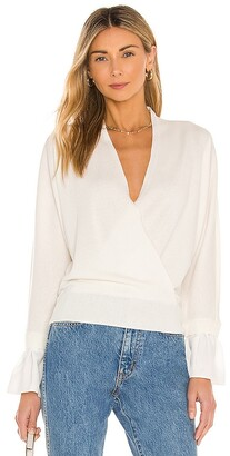 Milly Woven Wrap Front Dolman Sweater