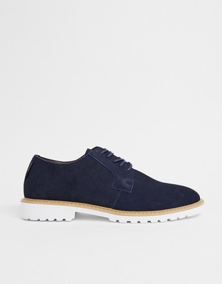 Ben Sherman suede lace up shoe in navy