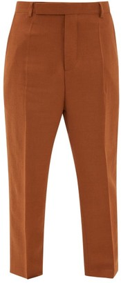 Rick Owens Easy Astaires High-rise Crepe Trousers - Brown