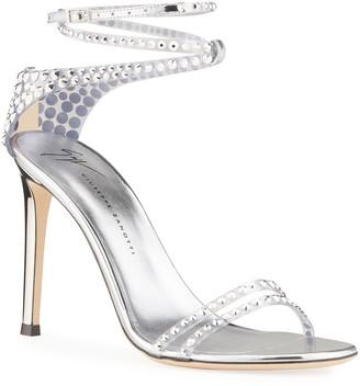 Giuseppe Zanotti Crystal Embellished Ankle-Strap Stiletto Sandals